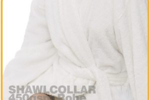 Terry Shawlcollar Hotel Bathrobe White